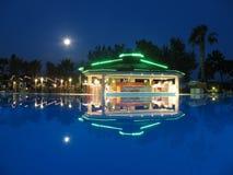 Night bar on summer beach stock photo