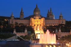 Night Barcelona Stock Image