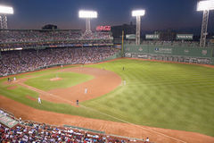 Night baseball at Fenway park Stock Images