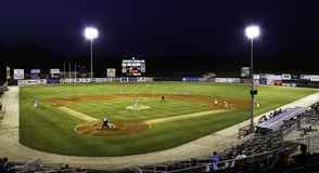 Night Baseball - Minor League Stadium Royalty Free Stock Images