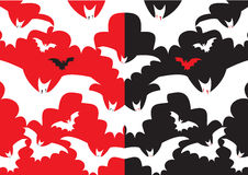 Night bat pattern. Halloween night Royalty Free Stock Images
