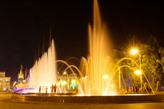 Night Batumi Boulevard in Batum, Georgia Royalty Free Stock Photos