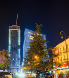 The night Batumi Stock Images