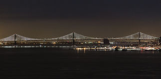Night Bay Bridge Royalty Free Stock Photos