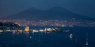 Night bay of Naples Royalty Free Stock Images