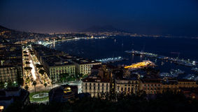 Night bay of Naples Royalty Free Stock Photo