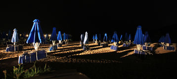 Night on the beach Royalty Free Stock Photography