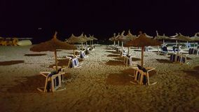 Night at the beach Royalty Free Stock Photography