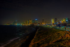 The night beach Stock Images