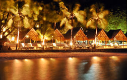 Night Beach Resort Royalty Free Stock Images