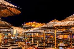 Night on the beach resorts Stock Photos