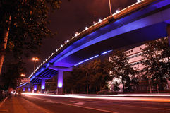 The night of Beijing. Beijing , lamp light in summer are also very charming , river bank inverted image, is reflecting florid lamp light Royalty Free Stock Photography