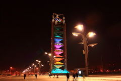 Night in the Beijing Olympic Parc Stock Photo