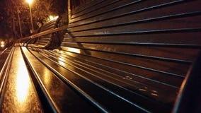 Night bench Stock Photo
