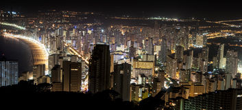 Night in Benidorm, Spain Stock Image