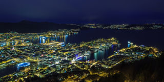 Night Bergen, Norway Royalty Free Stock Image