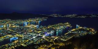 Night Bergen, Norway Royalty Free Stock Image