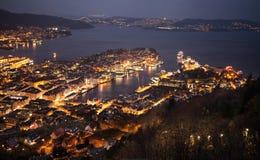 Night Bergen, Norway Stock Photos