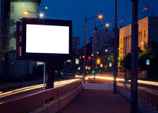Night billboard Royalty Free Stock Image