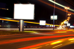 Night billboard Royalty Free Stock Photos