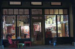A Night in Bisbee During the Holidays Stock Photography