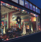 A Night in Bisbee During the Holidays Royalty Free Stock Photo