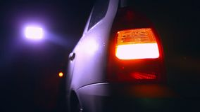 Night blinker light car turn beautiful city stock footage