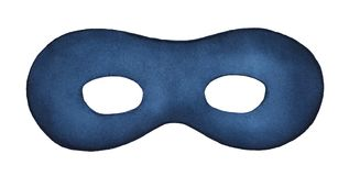 Night blue face mask watercolour illustration. stock photography
