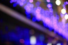 Night blue light city bokeh Royalty Free Stock Photography