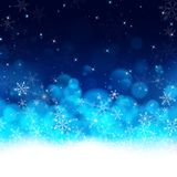 Night blue luxury Christmas card background vector illustration