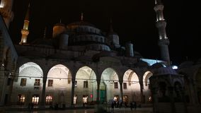 Night Blue Mosque stock video