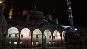 Night Blue Mosque stock video