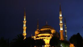 Night Blue Mosque stock video footage
