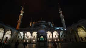 Night Blue Mosque stock footage