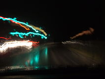 Night Blurs. Cars driving at night Royalty Free Stock Image