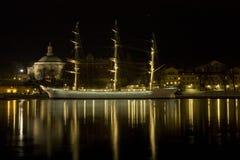 Night boat Stock Image