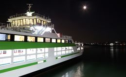 Night boat at Piraeus bort Greece Royalty Free Stock Photo