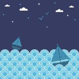 Night boats Stock Photo