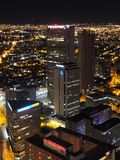 Night in Bogota, Colombia. BOGOTA, COLOMBIA - JULY 31, 2016: Night view of the downtown royalty free stock images