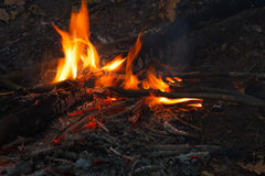 Night bonfire background Royalty Free Stock Photography
