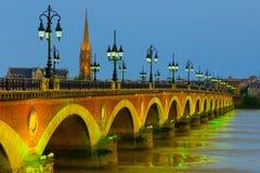 Night Bordeaux Stock Photography