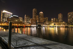 Night Boston Royalty Free Stock Photos