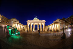 Night at Brandenburg Gate Stock Photos