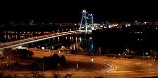 Night Bratislava Stock Photo
