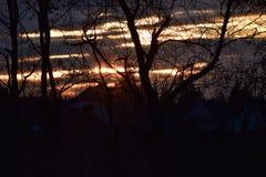 The Night breaks in. A beautiful Night breaks in royalty free stock photo