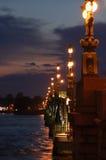 Night bridge. In St. Petersburg Stock Photos