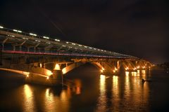 Night bridge Royalty Free Stock Photo