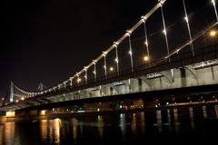 Night bridge Royalty Free Stock Images