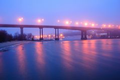 The night bridge Royalty Free Stock Image