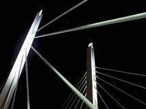 Night bridge. 6th Street Viaduct in Milwaukee, Wisconsin Royalty Free Stock Photo
